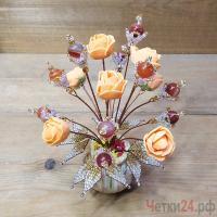 Купить цветы из сердолика «Идеи торжества»