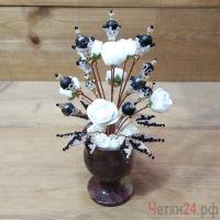Купить цветы из агата и гематита «Удивительная фантазия»