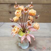 Купить цветы из янтаря и авантюрина «Доброе утро солнце»