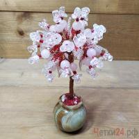 Купить дерево из розового кварца и горного хрусталя «Страна сказок»