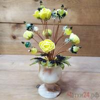 Купить цветы из кошачьего глаза (опала) и нефрита «Что значат чувства»